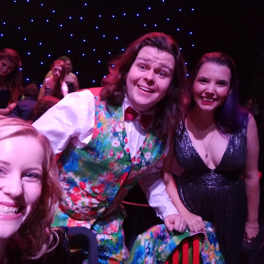 The Thought Jar team glam it up at Nexus Theatre.