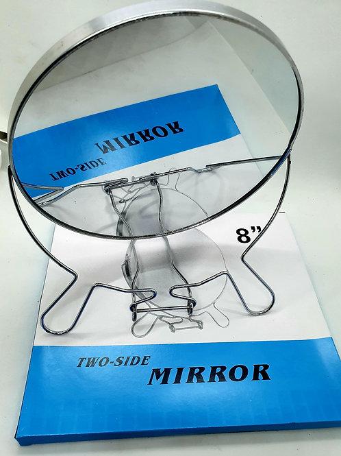 Espejo doble faz c/aumento metalico art.A064