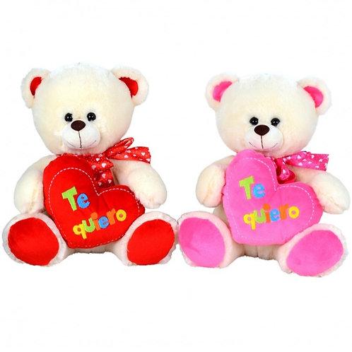 Peluche oso c/corazón art.11546 XL