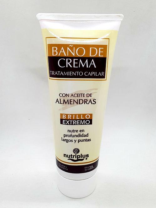 Baño de crema c/almendras x 245 ml.