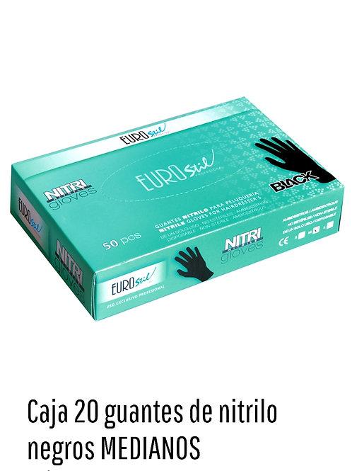 Guantes de Nitrilo Reforzados Medianos x 20 unid.art.53711
