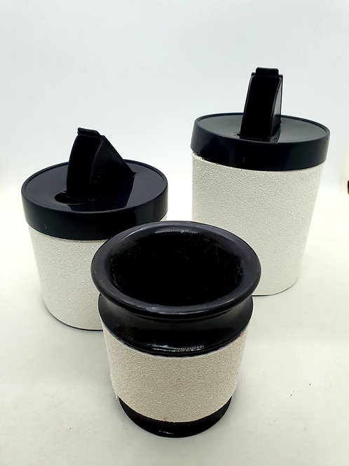 Set latas + mate plástico art.1002