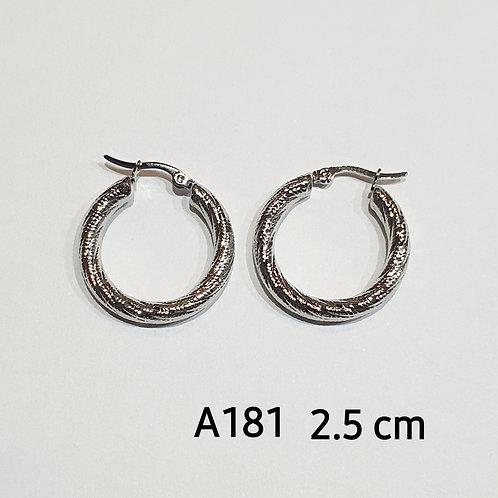 Aros acero 2.5cm art.181