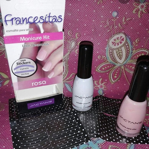 Set de francesitas rosada art.306
