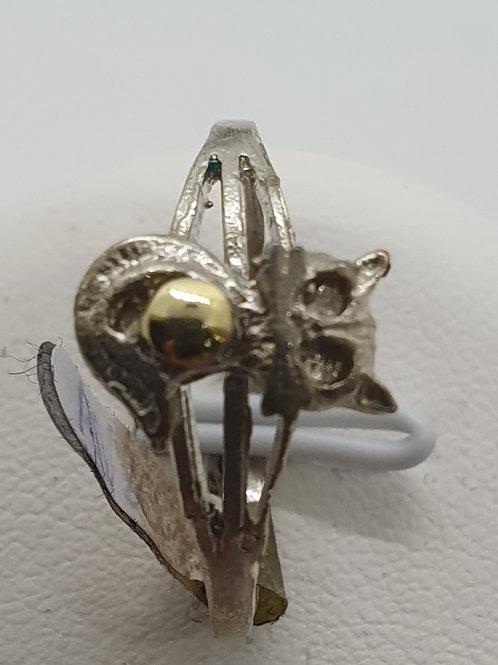 Anillo plata/oro