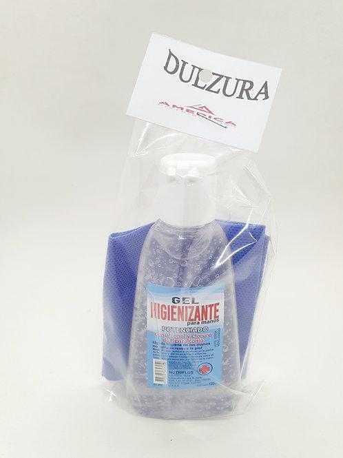 Kit seguridad /Barbijo + alcohol gel x 120 ml