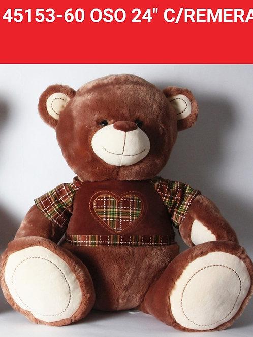 Peluche oso remera art.45153-50