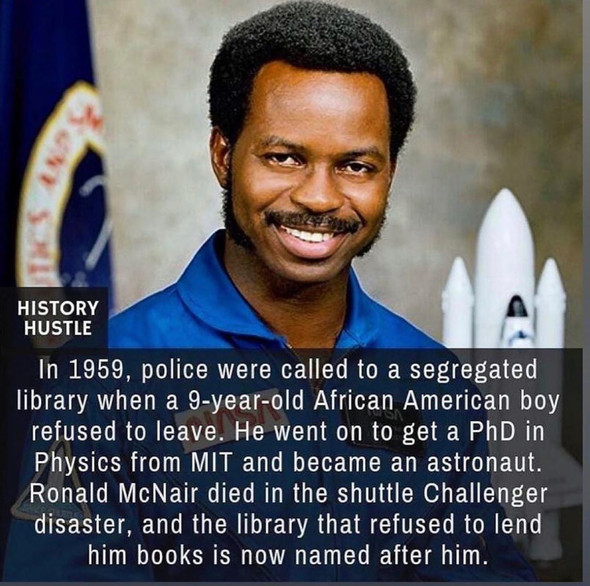 Black History month 2020. Ronald McNair.#Get Inspired.