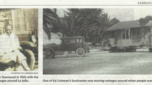 Black history in La Jolla, CA  Circa 1920s