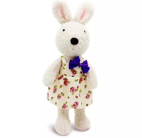 Le Sucre - Coelha Branca de Vestido e Laço Roxo
