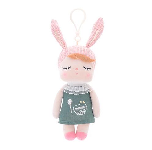 Mini Angela Coelha de Vestido Verde