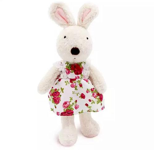 Le Sucre - Coelha Branca de Vestido de Rosas