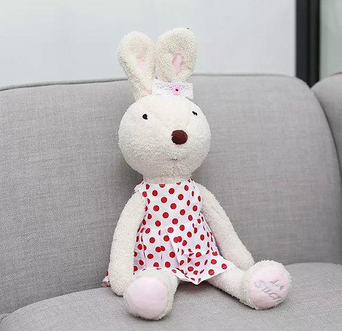 Le Sucre - Coelha De Vestido Branco De Bolinhas Vermelha