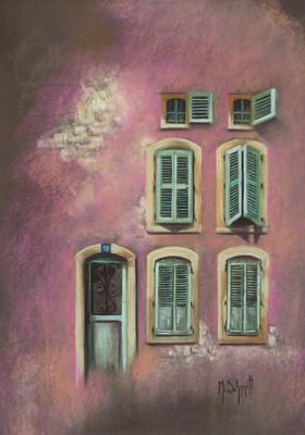 C'est une maison rose....