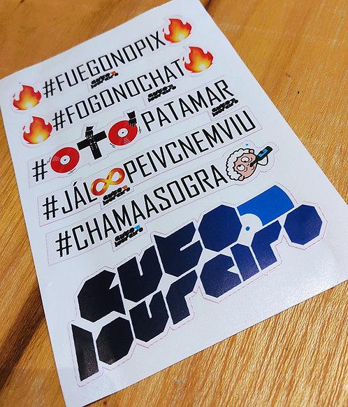 Kit de Adesivos Hashtags do Canal !!