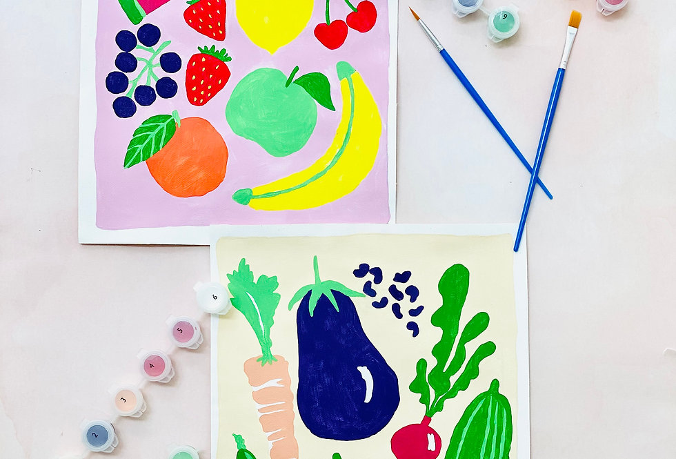 Paint-by-number : Ode to Fruits & Veggies