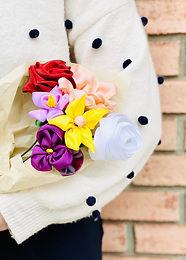 June | Floral Ribbon Bouquet (No Sew!)