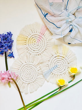 June | Macrame Coasters