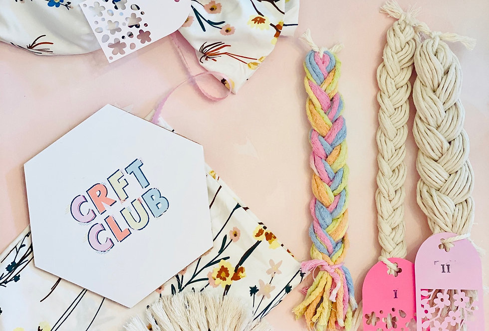 Set of Macrame Coaster DIY Kit