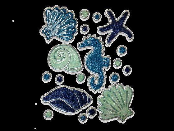 חיות ים כחול נוצץ
