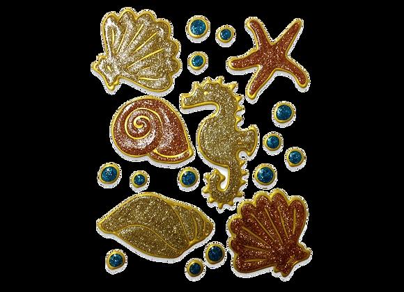 חיות ים זהב נוצץ