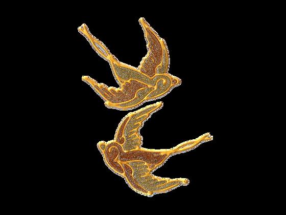 ציפורים זהב נוצץ