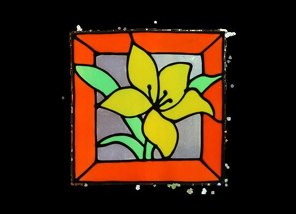 ריבוע פרח צהוב