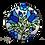 Thumbnail: עיגול פרחוני כחול