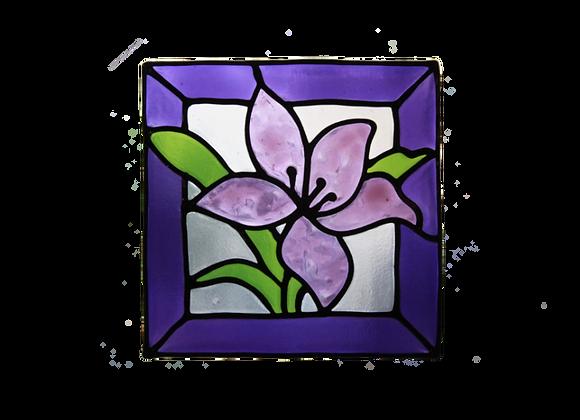 ריבוע פרח סגול