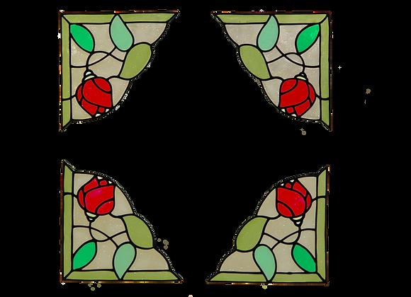 פינות ורדים אדום