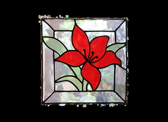 ריבוע פרח אדום