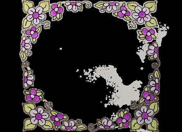 פינות פרחוניות סגול