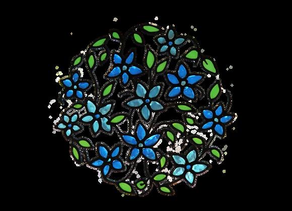 עיגול פרחים כחול