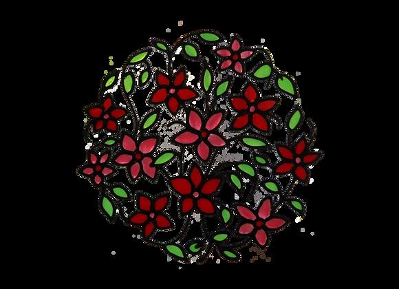 עיגול פרחים אדום