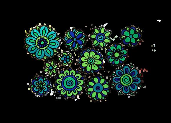פרחים כחולים