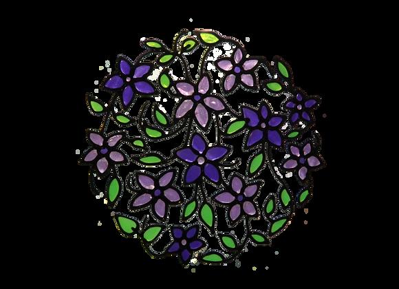עיגול פרחים סגול