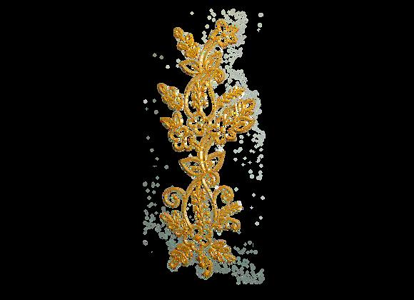 עיטור פרחים זהב
