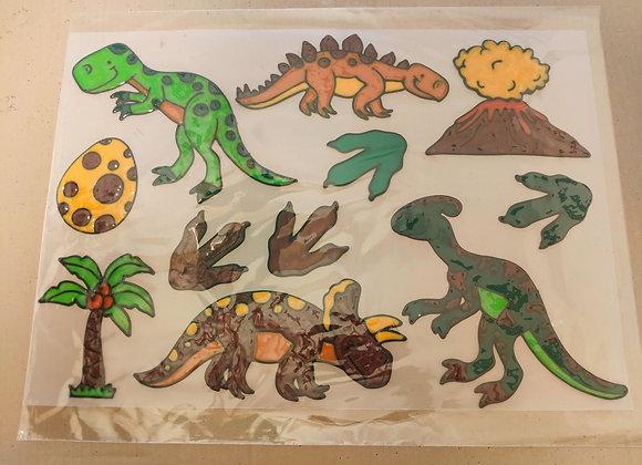סט מדבקות דינוזאור