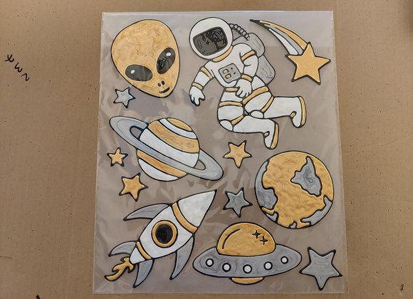 סט מדבקות חלל