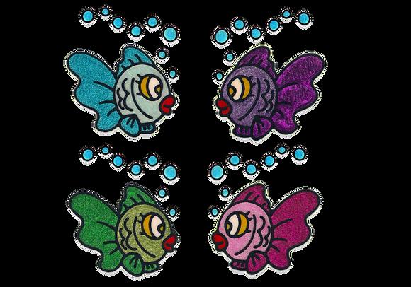 דגים צבעוניים נוצצים