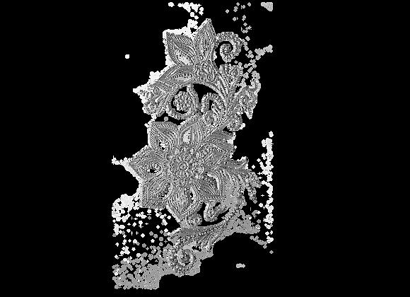 עיטור פרחים כסף