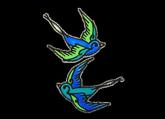 ציפורים כחולות