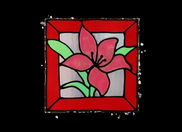 ריבוע פרח ורוד