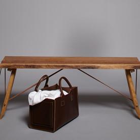 BeltUp Bench, brown Oak, ToolBag, Creati