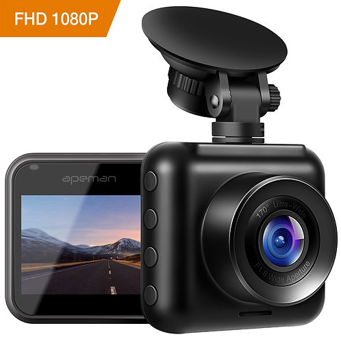 APEMAN Mini Dash Cam 1080P Full HD Dash Camera for Cars Recorder Super Night Vis