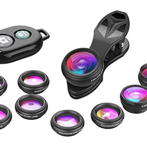 Apexel Phone Camera Lens-Macro Lens+Wide Lens+Fisheye Lens+Telephoto Lens+CPL/Fl