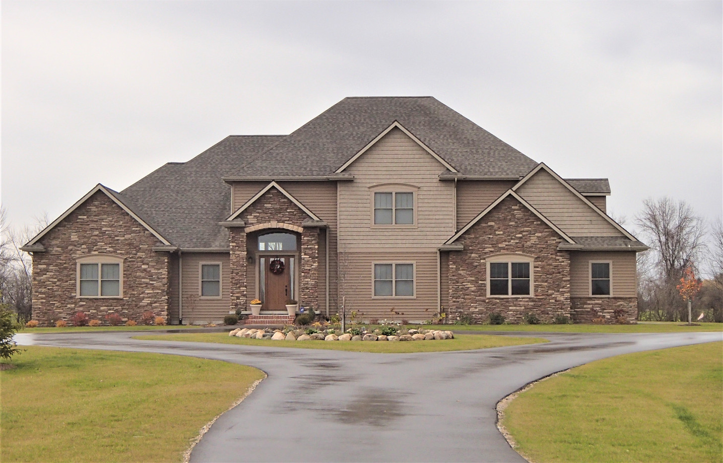 Large Traditional with walkout basement.