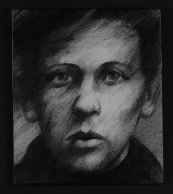 Drawing from an identity photograph of Boris who died in Lubyanka.