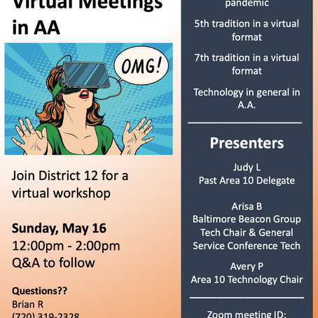 Area 10 Technology-Focused Workshop