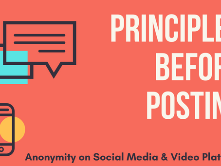 Anonymity on Social Media & Video Platforms